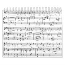 Sheet Music Black and White Pattern Calendar