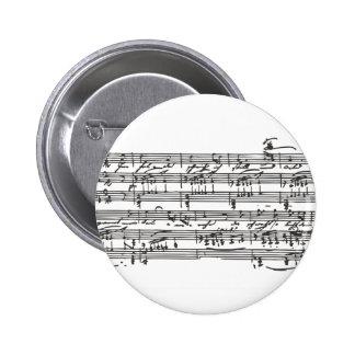 Sheet Music Pinback Button