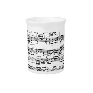 Sheet Music by Bach Beverage Pitcher