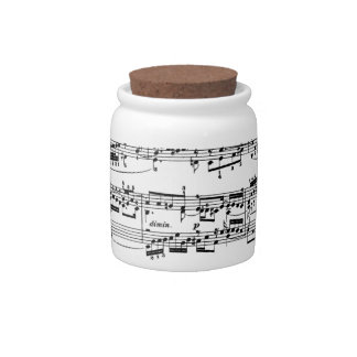 Sheet Music by Bach Candy Jars