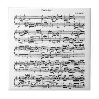 Sheet Music by Bach Ceramic Tile