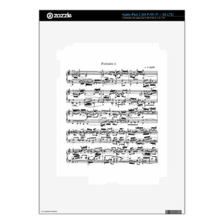 Sheet Music by Bach Decals For iPad 3