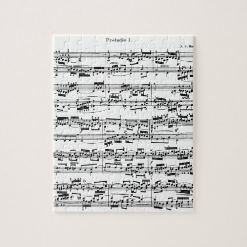 Sheet Music by Bach Jigsaw Puzzle