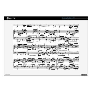 Sheet Music by Bach Laptop Decals