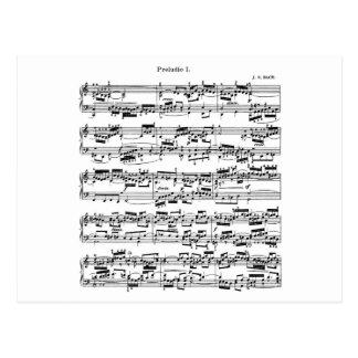 Sheet Music by Bach Postcard