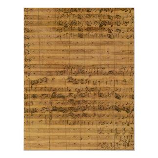 Sheet Music by Johann Sebastian Bach Invitation