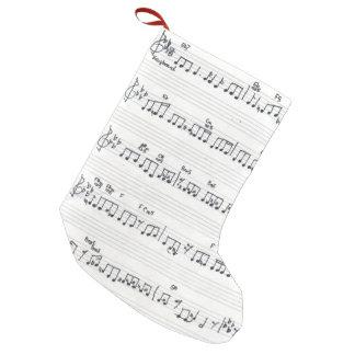 Sheet music Christmas stocking