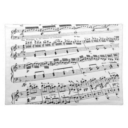 Sheet Music Cloth Placemat