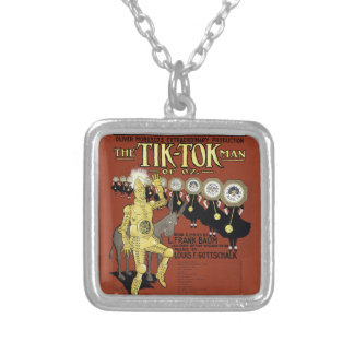 """Sheet Music Cover ~ The Tik-Tok Man of Oz"""" 1913 Silver Plated Necklace"""