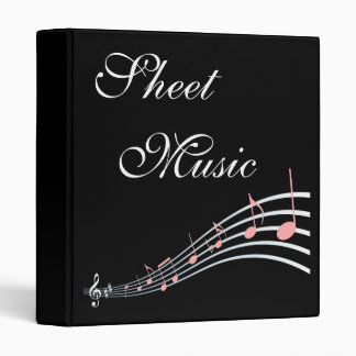 Sheet Music Custom Song Book Binder