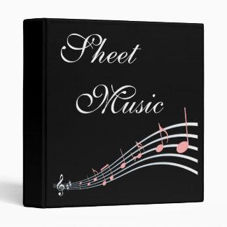Sheet Music Custom Song Book Binder