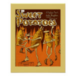 sheet music cvr Sweet Potatoes Ragtime March 1906 Poster