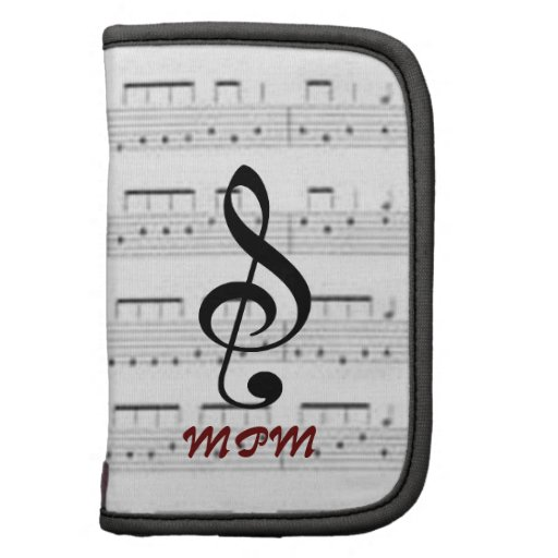 Sheet Music Day Planner/Folio