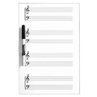 Sheet Music Dry-Erase Whiteboards