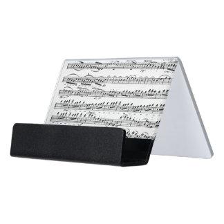 Sheet Music for the Overture to 'Egmont' Desk Business Card Holder