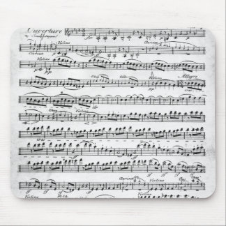 Sheet Music for the Overture to 'Egmont' Mouse Pad