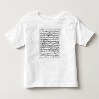 Sheet Music for the Overture to 'Egmont' Toddler T-shirt