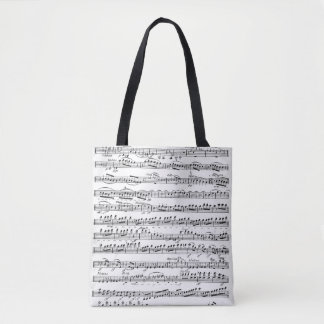 Sheet Music for the Overture to 'Egmont' Tote Bag