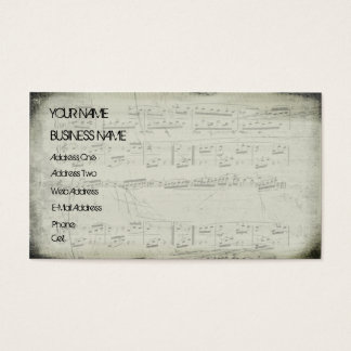 Sheet Music Grunge - Music Business Card