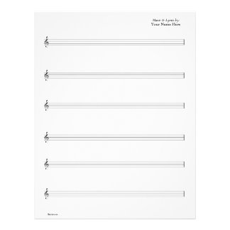 Sheet Music - Guitar Vocal (Write your own music)