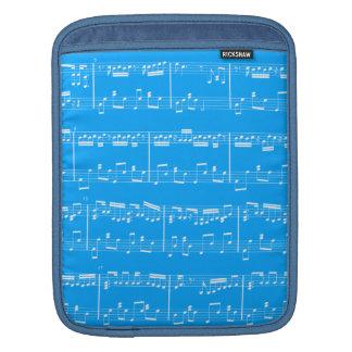 Sheet Music iPad Sleeve Blue