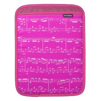 Sheet Music iPad Sleeve Pink