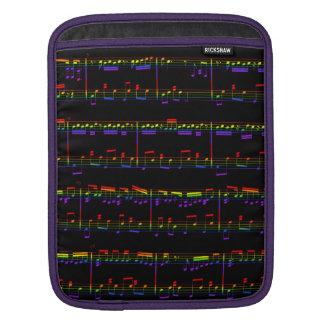 Sheet Music iPad Sleeve Rainbow