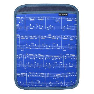 Sheet Music iPad Sleeve Royal Blue
