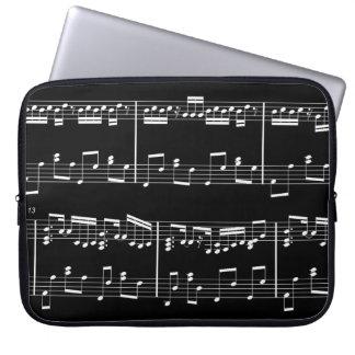 Sheet Music Laptop Case Black Laptop Sleeves