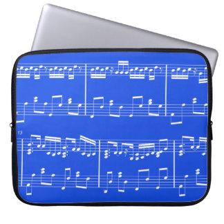 Sheet Music Laptop Case Royal Blue Laptop Sleeves