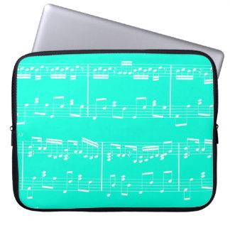 Sheet Music Laptop Case Turquoise Computer Sleeve