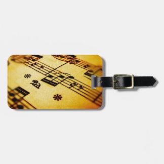Sheet Music Travel Bag Tags