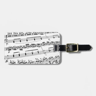 Sheet Music Tags For Luggage