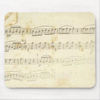 sheet music mouse pad