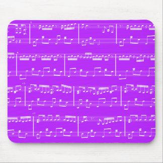 Sheet Music Mouse Pad Purple