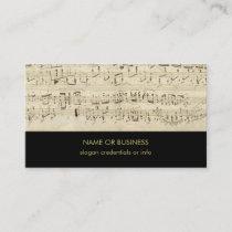 Sheet Music Musical Notes Score Business Card