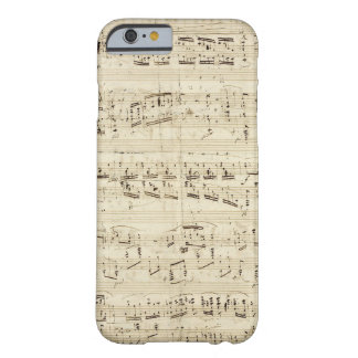Sheet Music on Parchment Handwritten in Ink Barely There iPhone 6 Case
