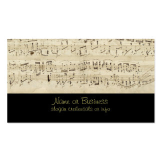 Sheet Music on Parchment Handwritten in Ink Double-Sided Standard Business Cards (Pack Of 100)