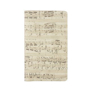 Sheet Music on Parchment Handwritten in Ink Large Moleskine Notebook