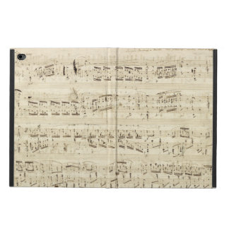 Sheet Music on Parchment Handwritten in Ink Powis iPad Air 2 Case