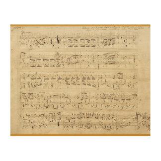 Sheet Music Wall Art sheet music wood wall art | zazzle