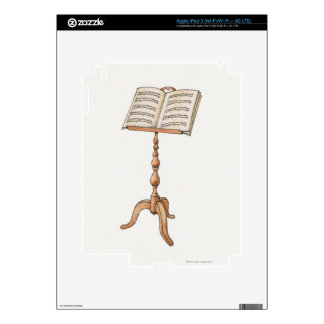 Sheet Music on Stand iPad 3 Decals
