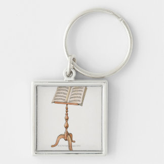 Sheet Music on Stand Keychain