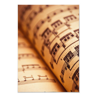 Sheet Music Pages Card