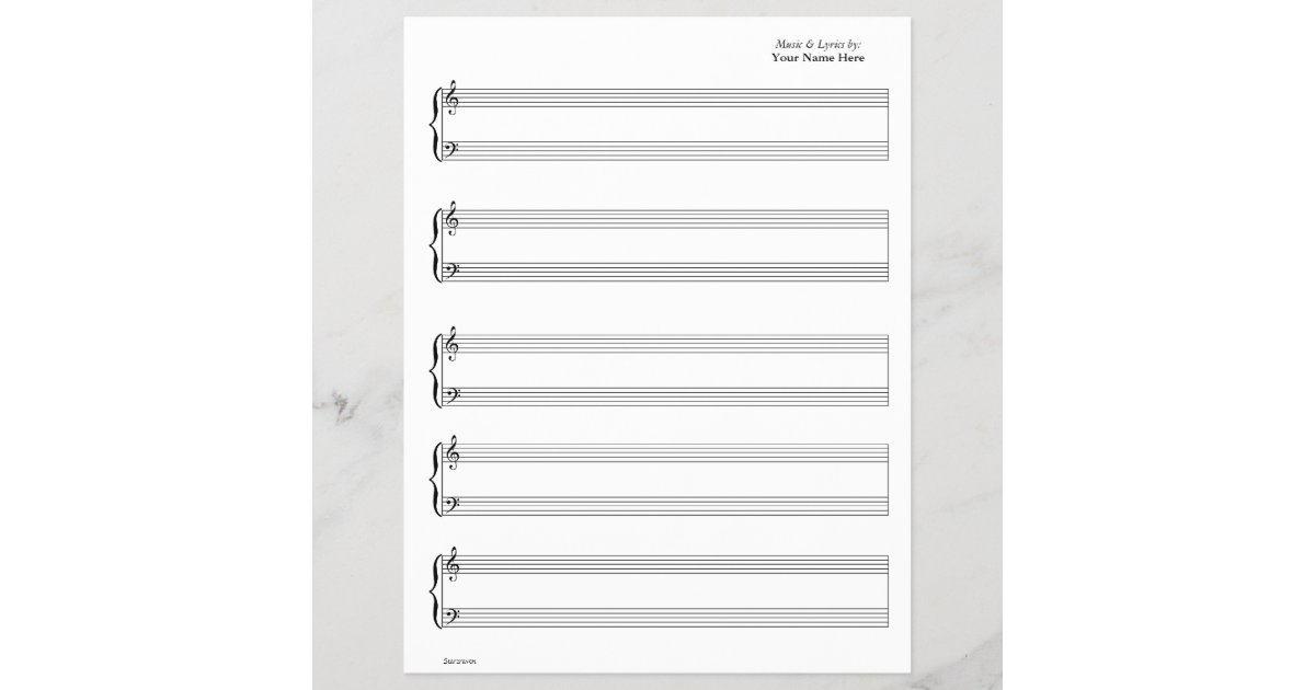 sheet music piano vocal write your own music. Black Bedroom Furniture Sets. Home Design Ideas