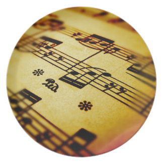 Sheet Music Party Plate