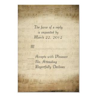 Sheet Music RSVP Card