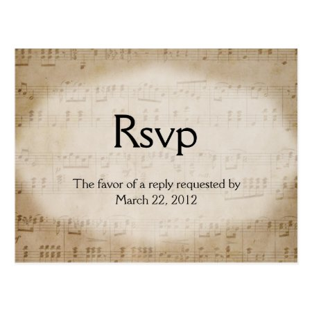 Sheet Music RSVP Dinner Choices