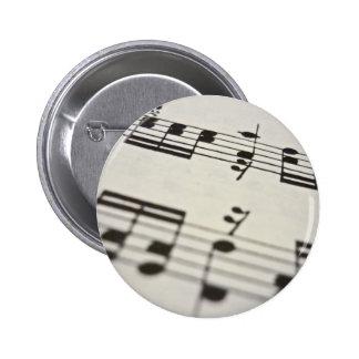 Sheet music score buttons