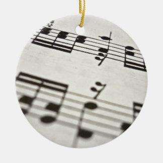 Sheet music score ceramic ornament